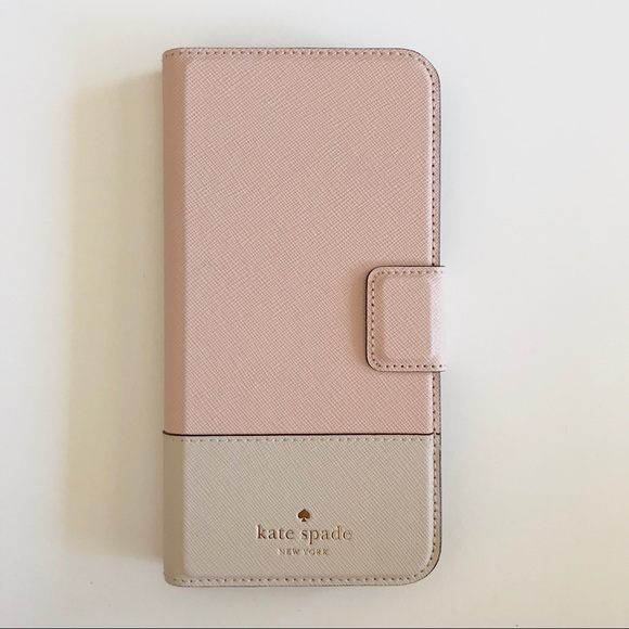 newest a5b97 2b4ee Kate Spade iPhone 8 Plus Folio Case